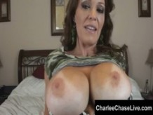 Busty MILF Charlee Chase Looks Hot in Camo