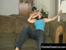 Big Tit Charlee Chase Foot Fuck and Tickled!