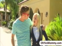 Super sexy moms first hot threesome fuck with Jessie nd her cute step son