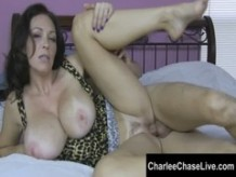 Big boob Tampa MILF Charlee Chase Gets a FootRub and Cock!