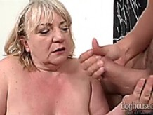 BBW grandma Ilona loves fucking younger man