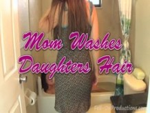 Madisin Lee & Melanie Hicks in Mom Washes Daughters Hair. Girl on Girl hair wash