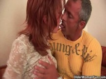 Red hot grandma with firm tits gets fucked