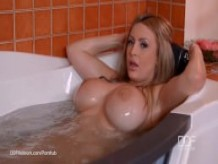 Soapy French Blonde Anastasia Sweet in Big Tits Bubble Bath