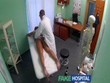 FakeHospital Dirty milf sex addict gets fucked by the doctor while her husband waits