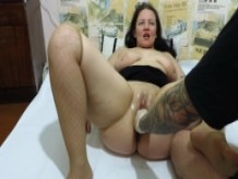 deep fisting mature couple