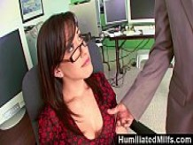 HumiliatedMilfs - Jennifer White Bent Over The Office Chair & Boned!