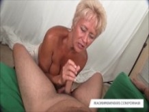 Horny Tracy Sucks A Hard Cock