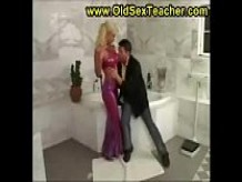 blonde milf fucked in the shower