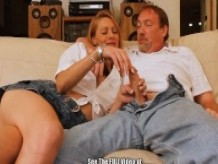 Blonde Used Wife Wants to be Porno DVD Star!