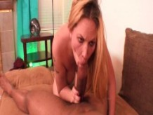 Blonde slut likes taste of sperm